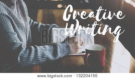 Creative Writing Talent Style Skills Concept