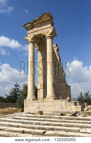 Limassol Cyprus - March 202015: Ruins of the Sanctuary of Apollo Hylates near Limassol Cyprus
