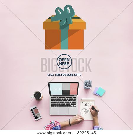 Gift Festive Holidays Occasion Celebration Concept