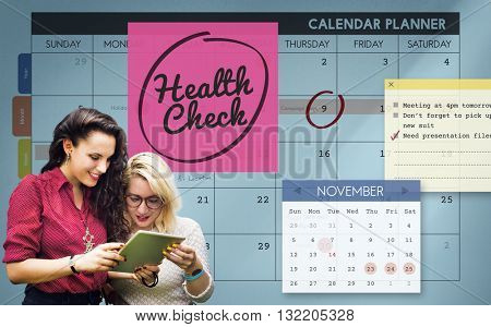 Health Check Healthcare and Medicine Wellness Schedule Concept