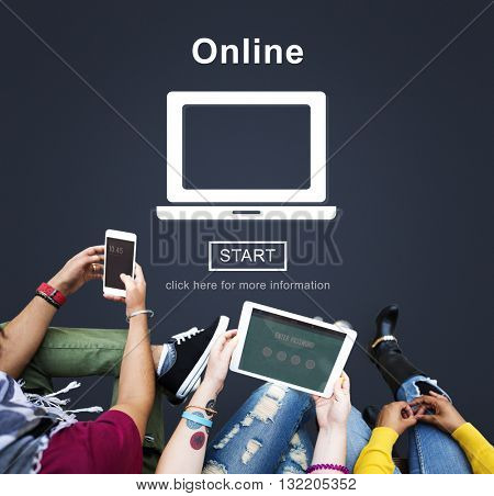 Online Digital Internet Connection Homepage Concept