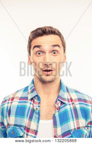 Photo Of A Surprised Handsome Young Man
