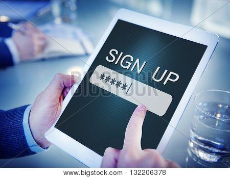 Security Sign Log In Up Password Secret Concept