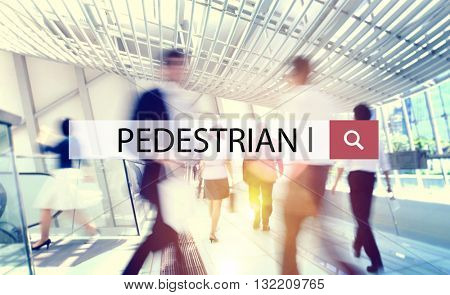 Pedestrian Active Foot Traffic Walker Environment Concept