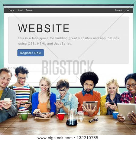 Website Development Internet Homepage Layout Concept