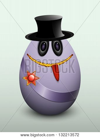 Egg Gentleman In The Hat.
