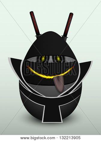 Egg Black Ninja Mask