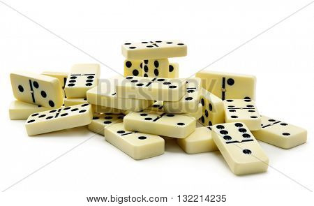 dominoes isolated on white background