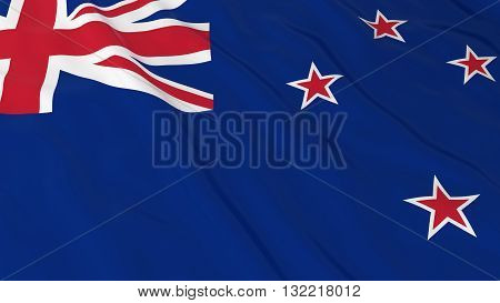 New Zealand Flag HD Background - Flag of New Zealand 3D Illustration