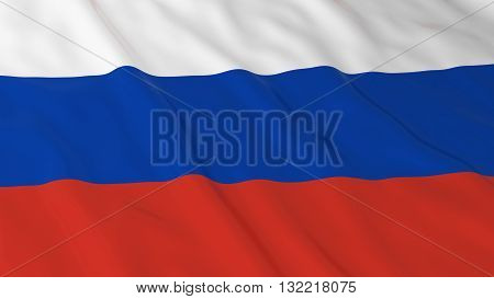 Russian Flag HD Background - Flag of Russia 3D Illustration