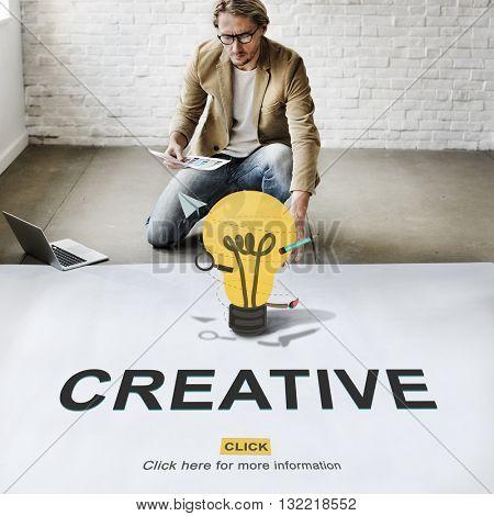 Creative Ideas Imagination inspiration Light Bulb Concept