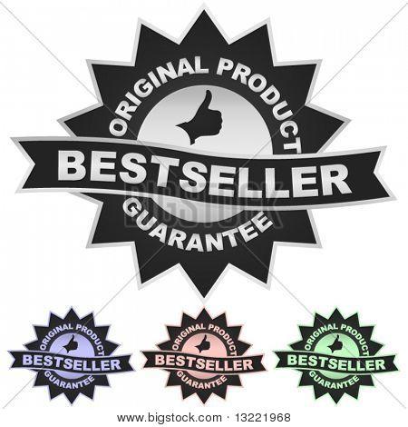 Bestseller vector emblem.