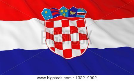Croatian Flag HD Background - Flag of Croatia 3D Illustration