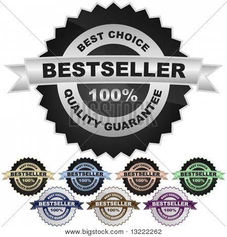 Bestseller signs. Set of design elements.