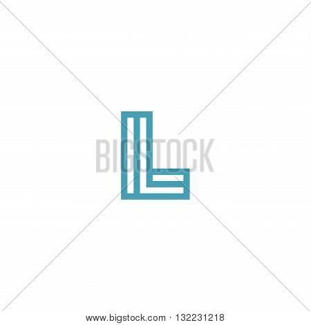 Impossible Letter L Logo design vector Linear Symbol Monogram