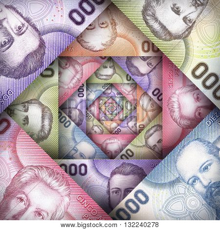 Chilean Peso Background