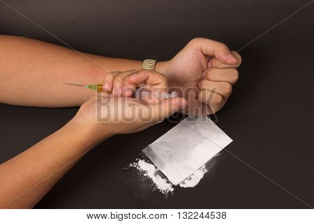 Drug Injecting By Syringe