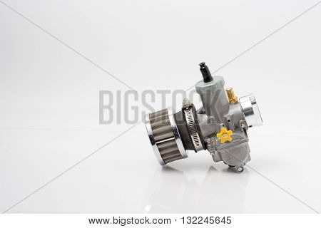 Carburetor And Air Filter Isolated