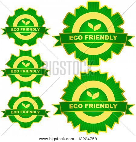 Set of natural labels. Vector set.