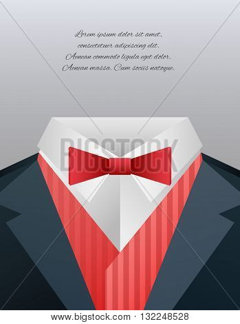 Vector illustration of men's suits and place for text for your design