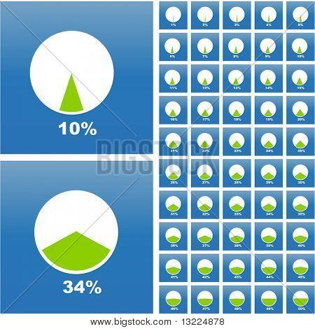 Vector de las estadísticas de negocios