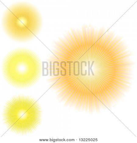 Vector abstracto de Sunburst.