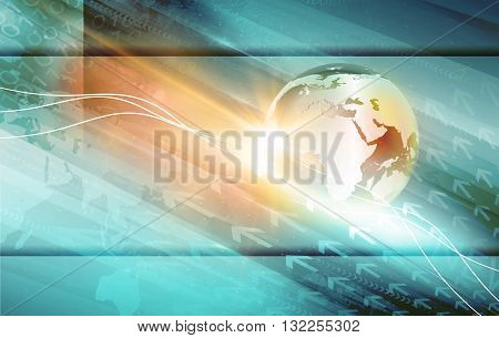 Global Connections News Background. Global Business Technology Communication Background Digital World