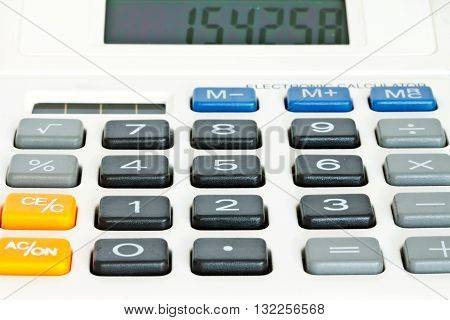 Close up Calculator Keypad, Accounting Keypad, Business Calculator
