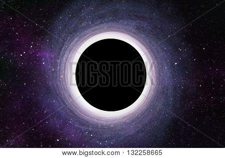 Massive Black Hole at Center of Galaxy - 3D Rendered Digital Illustration
