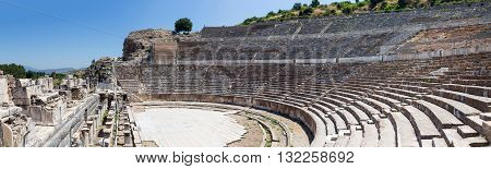 Panorama of the Great Theatre of Ephesus, Turkey