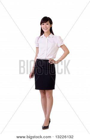 Mujer de negocios amablemente