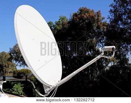1.3 metre satellite dish Calypso Mijas Costa Malaga Province Costa del Sol Andalucia Spain Western Europe.