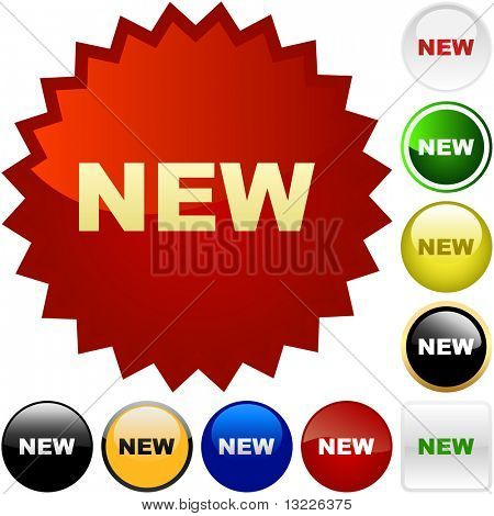 NUEVOS botones. Conjunto de vectores.