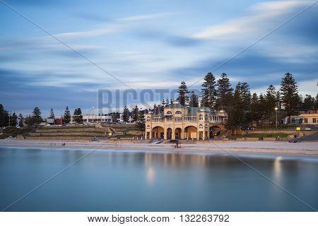 The Indiana Tea House on Cottesloe Beach in Western Australia.