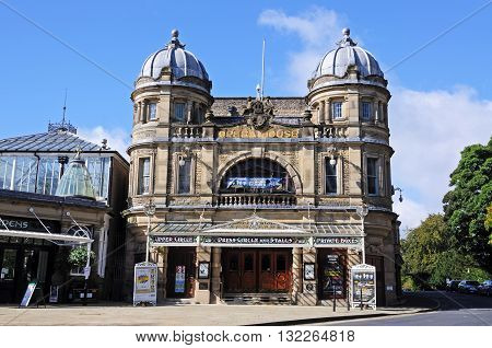 BUXTON, UK - SEPTEMBER 7, 2014 - Front view of the Opera House Buxton Derbyshire England UK Western Europe, September 7, 2014.