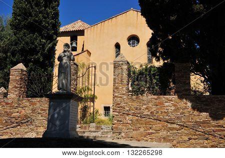 Bormes les Mimosas France - april 18 2016 : the saint Francois de Paule chapel
