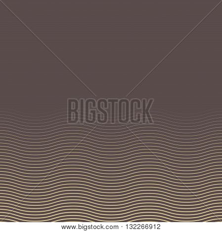 Geometric vector pattern. Abstract ornament for wallpapers and backgrounds. Brown and golden pattern