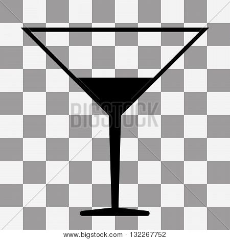 Vector black Coctail icon on transparent background
