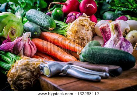 Vegetables. Fresh vegetables. Colorful vegetables background. Healthy vegetable studio photo. Assortment of fresh vegetables close up.