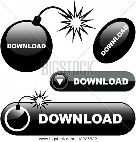 Download buttons. Vector set for web.