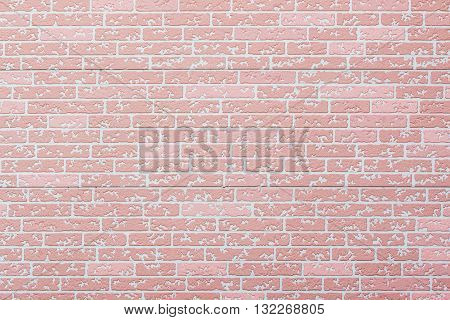 pink concrete brick wall pattern texture for background.