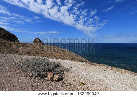 NATURAL PARK OF CABO DE GATA -NIJAR , SAN JOSE, ALMERIA PROVINCE, ANDALUSIA, SPAIN