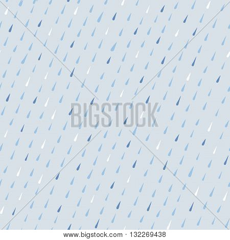 Cartoon seamless pattern with raindrops. Childish style background for your design.