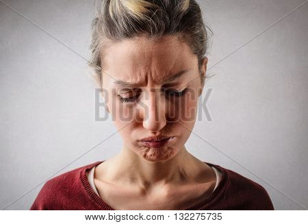 Disappointed woman