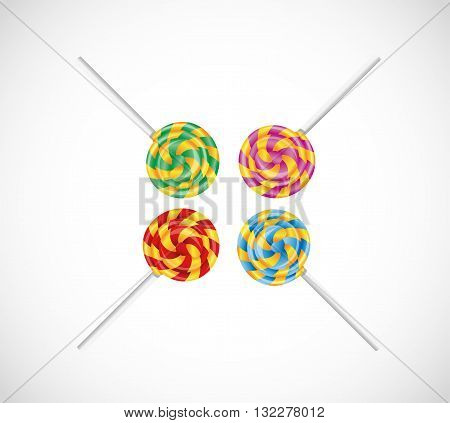 Set with colorful candy. Illustration 10 version
