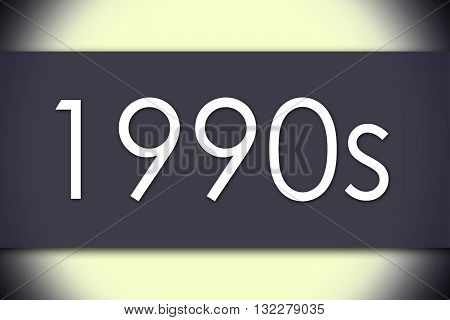 1990S - Business Concept With Text