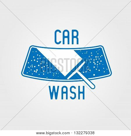 Car wash vector logotype design element. Car washing concept