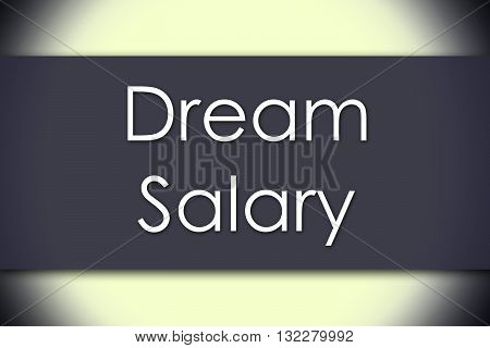 Dream Salary - Business Concept With Text