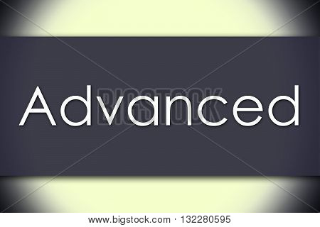 Advanced - Business Concept With Text