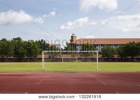 Soccer Goal or Football Goal in staduim